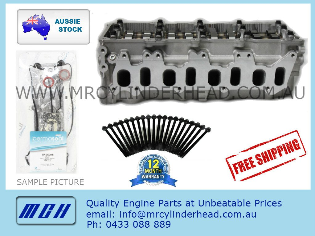 ZD30 CRD COMPLETE Assembled Cylinder Head Kit for Nissan Patrol ZD30DDTi  3 0L Common Rail